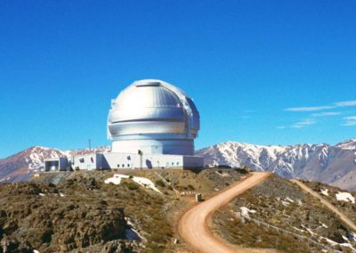 This view of the Gemini South Telescope shows the entire mountaintop facility on Cerro Pachón in Chile.